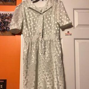 Dresses & Skirts - WHITE AND POLKA DOT DRESS